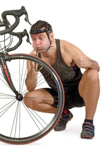 Inflate the bicycle tyre